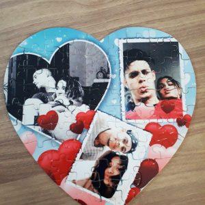Пъзел сърце със снимка + дизайн.