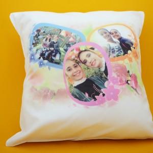 Възглавничка със снимки+ дизайн.