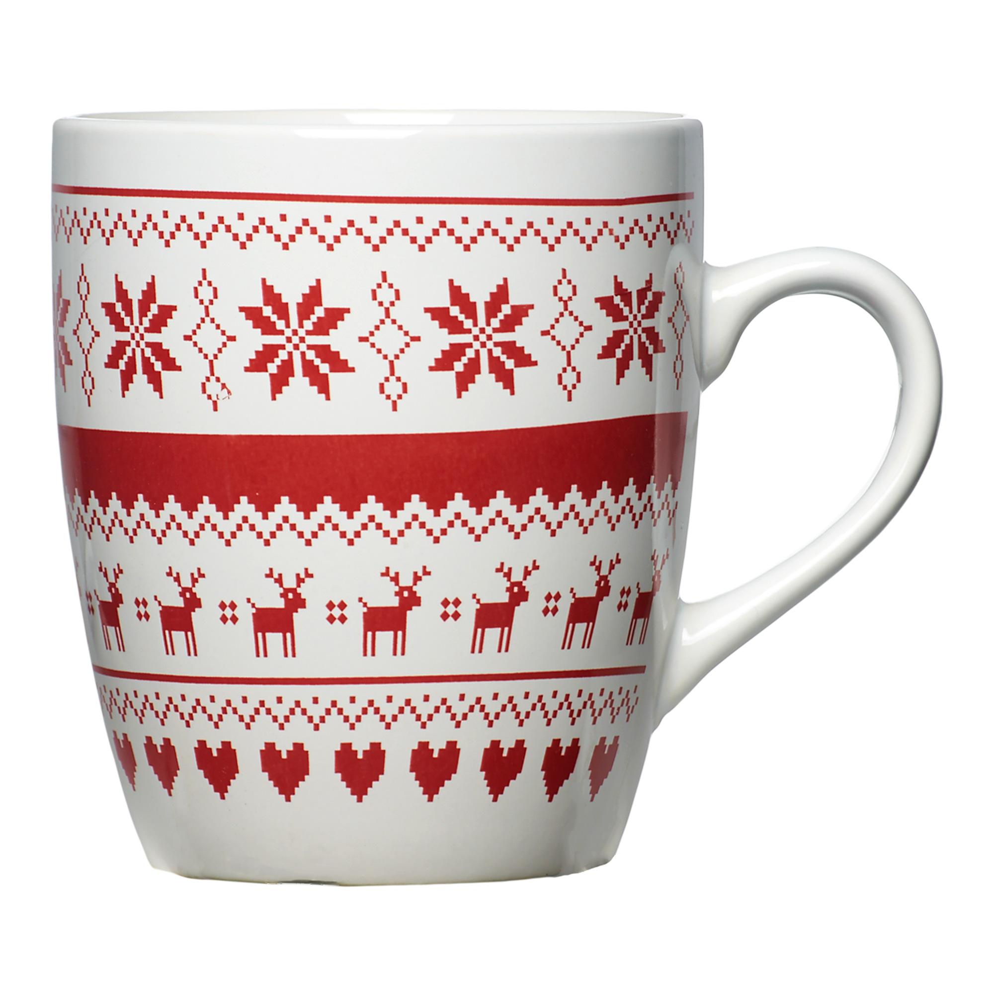 107002104-Jumbo Nordic Print Christmas Mug-1