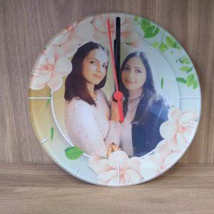 Стъклен часовник със снимка